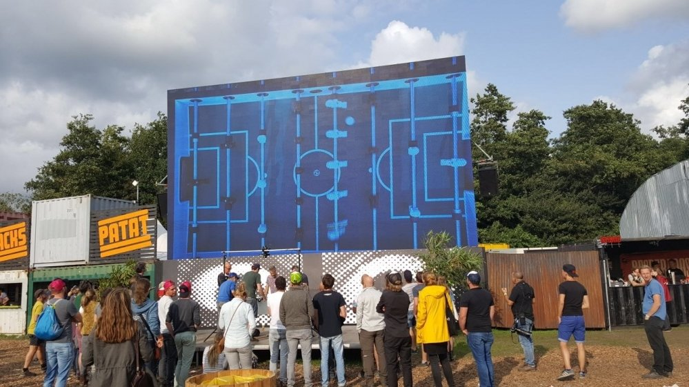 Kickerprofs op Lowlands Biddinghuizen